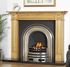 Plain Arched Cast-iron Fireplace Insert Half Polish